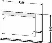 Duravit ve732301414–Spiegel Ablage rechts