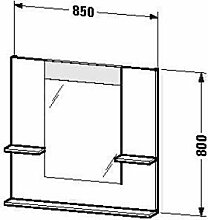 Duravit ve735003838-Spiegel Ablage 850x