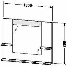 Duravit ve735101414–Spiegel Ablage rechts