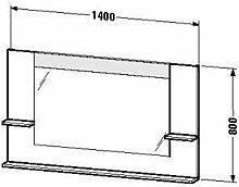 Duravit ve735304343-Spiegel Ablage rechts