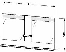 Duravit ve736004343–Spiegel Ablage 1100x