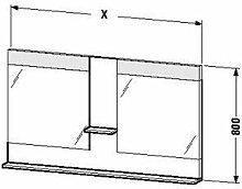 Duravit ve736005151-Spiegel Ablage 1100x