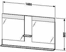 Duravit ve736104343-Spiegel Ablage 1400x