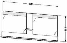 Duravit ve736205252-Spiegel Ablage 1800x