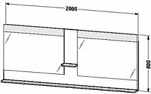 Duravit ve736304747-Spiegel Ablage 2000x