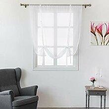 Durchsichtiger Raffgardine für Fenster,