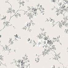 Duro Vliestapete Beige Blumenmuster – Kristina