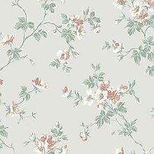 Duro Vliestapete Grün Blumenmuster – Kristina