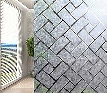 DURORY Fensterfolie Sichtschutzfolie Kleber Selbstklebend Statisch Folie Dekorativ Glas Fenster Anti-UV Folie 90x200CM