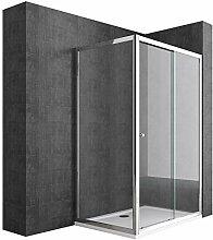 Duschabtrennung 75x100 Schiebetür Duschwand Für