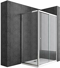 Duschabtrennung 75x140 Schiebetür Duschwand Für