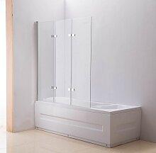 Duschabtrennung Badewanne 3-Türig, Links oder