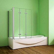 Duschabtrennung Badewannenaufsatz 76x130x140cm