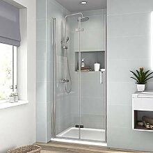 Duschabtrennung Nische Klappbar Duschkabine 90cm