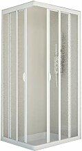 Duschakbine Eckeinstieg Acrylglas in weiß Größe