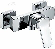 Duscharmatur Chrom Design Mischbatterie Dusche Einhebelmischer