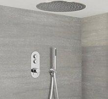 Duscharmatur mit Drucktasten 2 Funktionen, inkl.