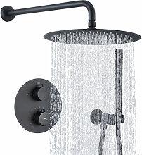 Duscharmatur Schwarz Duschsystem Rainshower