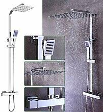 Duscharmatur Thermostat Regendusche Duschset mit