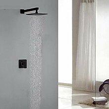 Duscharmaturen schwarz Regenbad Unterputz