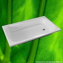 Duschbadewanne 130x75 cm, Duschwanne tief -