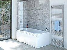 Duschbadewanne 170x85 cm L mit Badewannenaufsatz - Badewanne mit Dusche