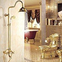 Dusche Bad Dusche Wasserhahn Markise Gold Kupfer
