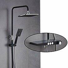 Dusche Bad Duschset Mischbatterie Schwarz Bad