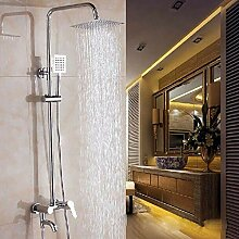 Dusche, Badewanne, Badezimmer mit warmen und