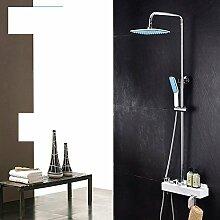 Dusche Badewanne mit Kupfer Dusche und Dusche