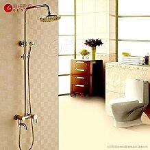 Dusche Badezimmer 3 Gold golden hand Dusche Wasserhahn Dusche einstellen