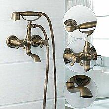 Dusche Duschkopf Duschset Antique Brushed Brass