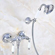 Dusche Duschkopf Duschset Polished Chrome Shower