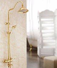 Dusche, Europäischen stil gold Dusche,