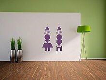 Dusche für Frauen und Männer Wandtattoo Format: 600x490 mm_d Wandbild, Wandaufkleber, Wandsticker Dekoration für Wohnzimmer, Schlafzimmer und Kinderzimmer