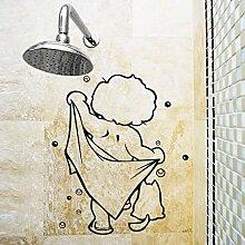 Dusche Glastür Aufkleber Kinder Baden