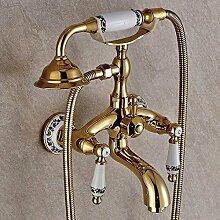 Dusche gold Duschkopf Wand Dusche voll Kupfer