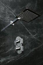 Dusche mit Mischbatterie mit festem Duschkopf