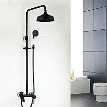 dusche Schwarz Wandhalterung Niederschlag 8 Zoll