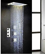 Dusche voll Kupfer dunkel Thermostat Seite