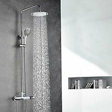 Dusche Wasserhahn die traditionellen wandmontierten Regendusche withCeramic Ventil einzigen Griff zwei Bohrungen forOil-rieb Bronze, Dusche Armatur, Chrom 18.