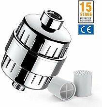 Duschfilter Wasserfilter 12-15 Stufen mit Filter