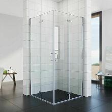 Duschkabine 100x100 Eckeinstieg Dusche