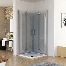 Duschkabine 100x80 Eckeinstieg Dusche Doppel