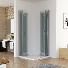Duschkabine 120x80 Eckig Dusche Falttür 180º