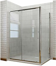 Duschkabine 130x80x190 cm Rechteck Schiebetür