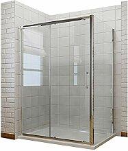 Duschkabine 150x80x190 cm Rechteck Schiebetür