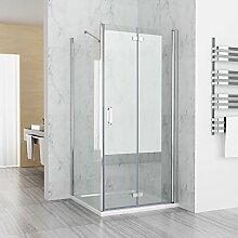 Duschkabine 70x70 cm Eckig Dusche Falttür 70