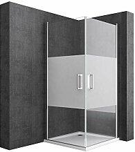 Duschkabine 75x80 Inkl. Duschtasse Eckeinstieg