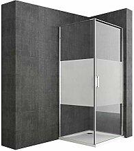 Duschkabine 80x80 cm Duschwand mit Duschtasse